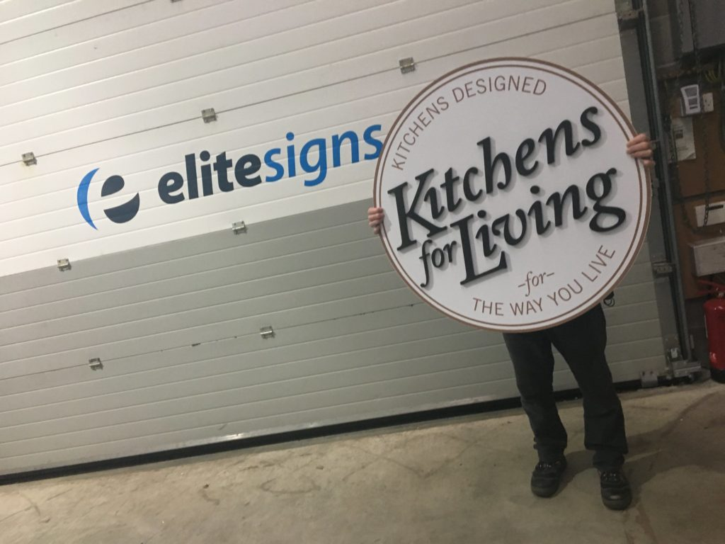 Creating the sign in the workshop