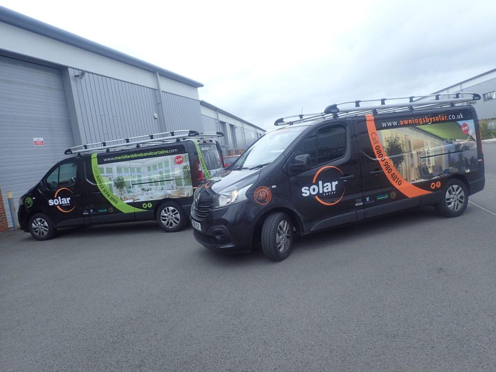 Solar Sunshades Bridgend van wrap by Elite Signs